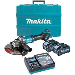 "Makita 40V Max Brushless 230mm (9"") Angle Grinder Kit - GA038GM201"