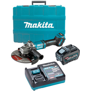 "Makita 40V Max Brushless 230mm (9"") Angle Grinder Kit - GA038GT101"