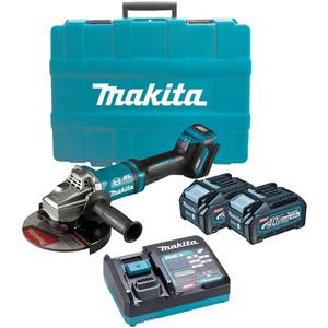 "Makita 40V Max Brushless 180mm (7"") Angle Grinder Kit - GA037GM201"