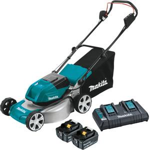 Makita 18Vx2 Brushless Lawn Mower 460mm Kit - DLM464PT2
