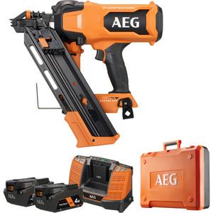 AEG 18V 4.0ah F-RAPIDFIRE 10GA 30-34° Framing Nailer Kit - A18FNF1042C