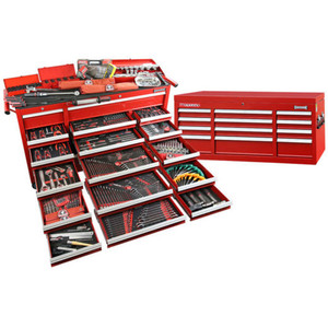 Sidchrome 613 Piece Met A/F Tool Kit Triple Bank With Top Chest - SCMT11100