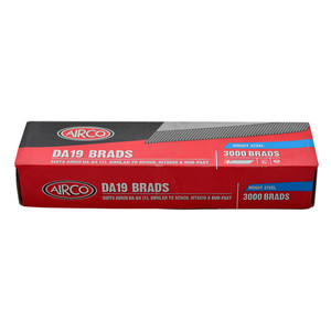 Airco 38mm DA Series Brads Bright, Coated Box of  3000