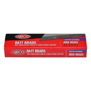Airco 45mm DA Series Brads Electro Galvanised Box of 3000