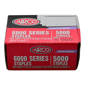 Airco 18mm 6000 Series Staples (5.5mm Crown) Box of 5000