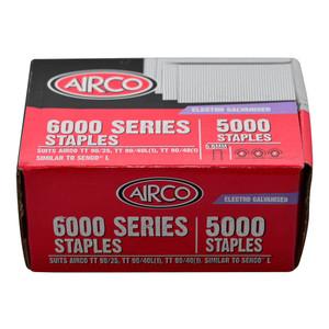 Airco 22mm 6000 Series Staples (5.5mm Crown) Box of 5000