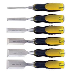 FatMax 6 Piece Thru Tang Butt Chisel Set (6mm, 12mm, 18mm, 25mm, 32mm, 38mm) - 16-971
