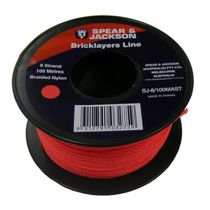 Spear & Jackson 100m Orange Brick Line - SJ-8/100M-O