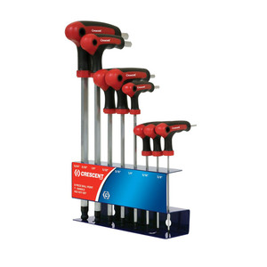 Crescent 8 Piece Imperial Ball Point 'T' Handle Hex Key Set - CHKT81