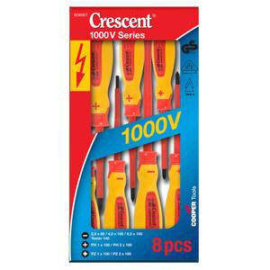Crescent 8 Piece 1000 Volt Insulated Screwdriver Set - SD8SET