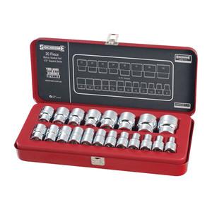 "Sidchrome 20 Piece Metric 1/2"" Drive Socket Set - 14214"