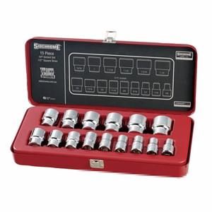 """Sidchrome 15 Piece AF 1/2"""" Drive Socket Set - 14414"""