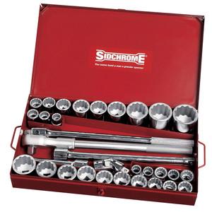 """Sidchrome 32 Piece Metric & AF 3/4"""" Drive Socket Set - 15106"""