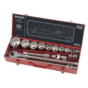 "Sidchrome 17 Piece Metric 3/4"" Drive Socket Set - 15205"