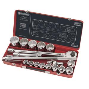 """Sidchrome 19 Piece AF 3/4"""" Drive Socket Set - 15405"""