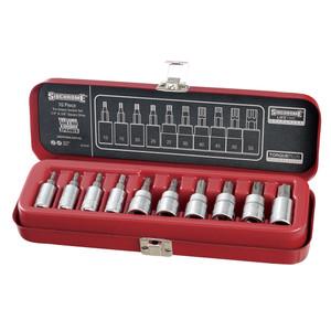 "Sidchrome 10 Piece 1/4"" & 3/8"" Drive Tru-Torque (Torx) Socket Set - 19107"