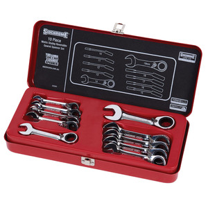 Sidchrome 10 Piece Metric Stubby Geared Wrench Set - 22203