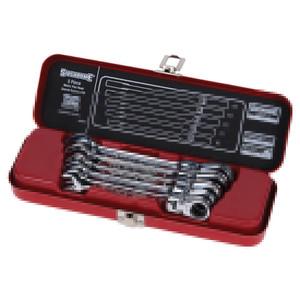 Sidchrome 5 Piece Metric Flex-Head Geared Wrench Set - 22204