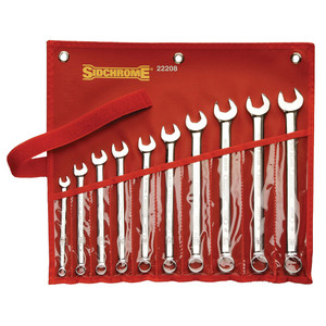 Sidchrome 10 Piece Metric Ring & Open End Spanner Set - 22208