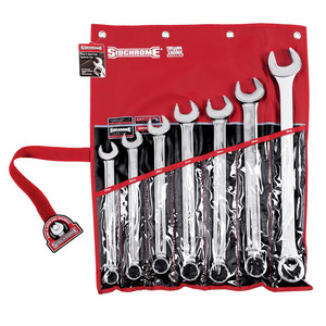 Sidchrome 7 Piece Metric Ring & Open End Spanner Set - 22209