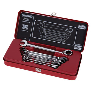 Sidchrome 7 Piece AF Geared Wrench Set - 22402