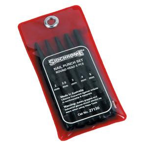 Sidchrome 5 Piece Nail Punch Set - 27130