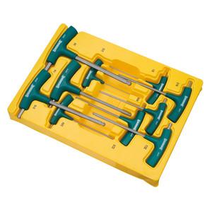 Sidchrome 10 Piece AF T Handle Hex Key Set - 29560