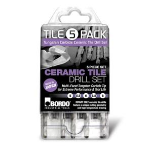 Bordo 5 Piece Ceramic Tile Drill Set - 2710-S1