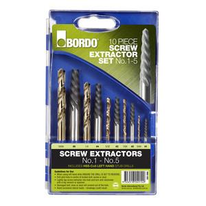 Bordo 10 Piece Screw Extractor Set - 9900-SM2