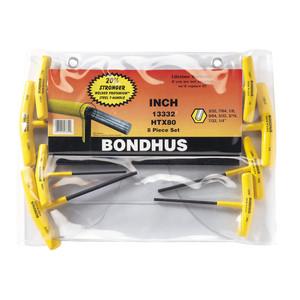 Bondhus 8 Piece Imperial T Handle Hex Key Set - 13332
