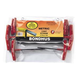 Bondhus 8 Piece Metric T Handle Hex Key Set - 13387