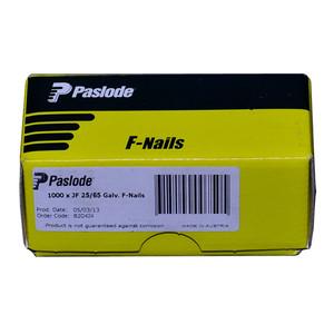 Paslode 65mm x 2.5mm F Head Nails Box of 1000 - B20424