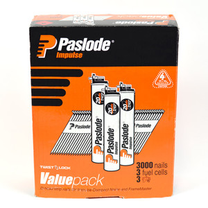Paslode 50mm x 2.87mm Bright D Head Nails Value Pack - Box of 3000 - B20544V