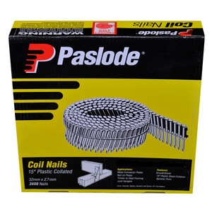 Paslode 32mm x 2.7mm Smooth Shank Coil Nails - Box of 3600 - B25115