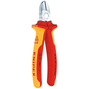 Knipex 160mm Diagonal Cutters With 1000V Insulated Multigrips - 7006160