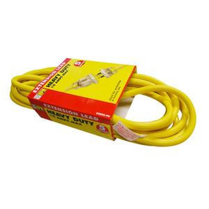 HPM 5m Heavy duty Extension Lead 10A 2400W Standard Yellow 3 core 1.0mm² - R2805