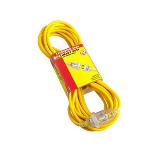HPM Heavy Duty 10A 2400W Standard 10M Extension Lead - Yellow 3 Core 1.0mm² - R2810
