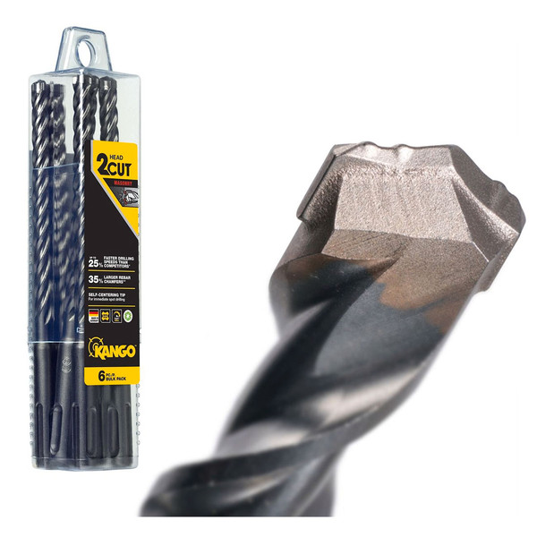 Kango 10mm x 160mm K2 SDS Plus Drill Bit - 6 Piece - 6K2P10160B