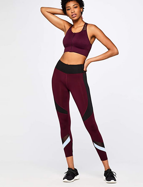 Red Wine Sports leggings by brazzinga, lifestyle