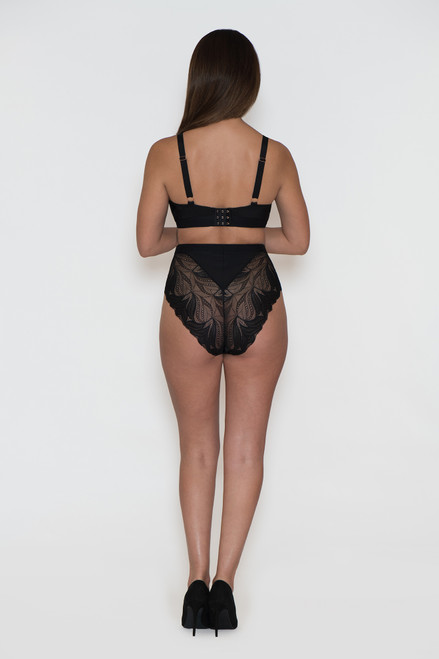 Indulgence High Cut Lace Panty back view