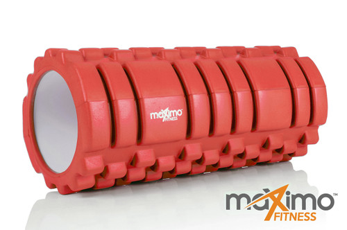 FOAM ROLLER - Trigger Point - STRONGER and HARDER for DEEPER MASSAGE - Myofascial Release - QUICK START guide - Perfect Muscle Roller for Home, Gym, Pilates, Yoga - 14cm x 33cm - Lifetime Guarantee - RED.