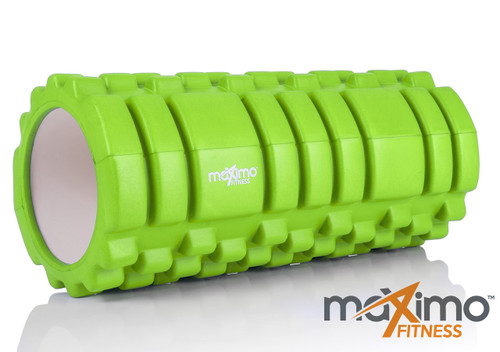 FOAM ROLLER - Trigger Point - STRONGER and HARDER for DEEPER MASSAGE - Myofascial Release - QUICK START guide - Perfect Muscle Roller for Home, Gym, Pilates, Yoga - 14cm x 33cm - Lifetime Guarantee - GREEN