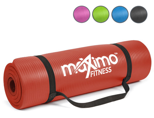 Maximo Exercise Mat - Premium Quality Gym Mat - Multi Purpose - 183cm Length x 60cm Width x 1.2cm Thick - Perfect for Yoga, Pilates, Sit-Ups and Stretching - Lifetime Warranty.
