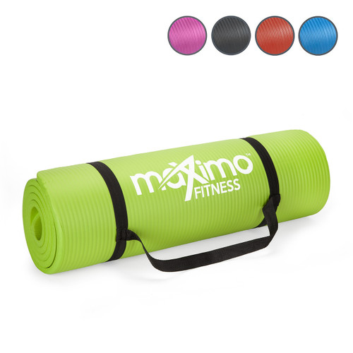 Maximo Exercise Mat - Premium Quality Gym Mat - Multi Purpose - 183cm Length x 60cm Width x 1.2cm Thick - Perfect for Yoga, Pilates, Sit-Ups and Stretching - Lifetime Warranty. (Green)