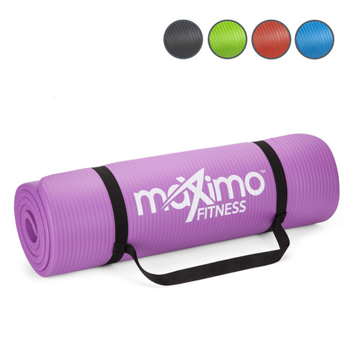 Maximo Exercise Mat - Premium Quality Gym Mat - Multi Purpose - 183cm Length x 60cm Width x 1.2cm Thick - Perfect for Yoga, Pilates, Sit-Ups and Stretching - Lifetime Warranty. (Purple)