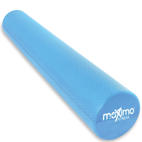 "Maximo Fitness - EVA Foam Roller – Extra Long – 6"" x 36"" (15 cm x 90 cm) – Trigger Point – Perfect Self Massage tool for Home, Gym, Pilates, Yoga – Instructions Included. (Blue - 90 cm)"
