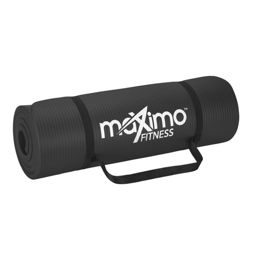 Maximo Fitness - Extra Thick Exercise Mat - Premium Non-Slip Gym Mat - Multi Purpose - 183cm Length x 60cm Width x 1.5cm Thick - Perfect for Pilates, Floor Exercises, Sit-Ups, Stretching, Gym - Lifetime Warranty