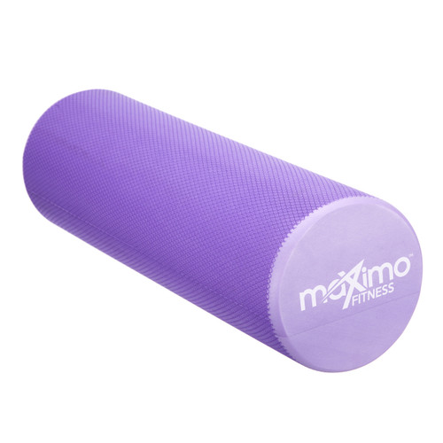 FOAM ROLLER - EVA - Superb Muscle Roller - Trigger Point - 15cm * 45cm - Perfect for Gym, Pilates, Yoga - FREE Quick Start Guide - Lifetime Warranty. (Purple)