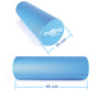 FOAM ROLLER - EVA - Superb Muscle Roller - Trigger Point - 15cm * 45cm - Perfect for Gym, Pilates, Yoga - FREE Quick Start Guide - Lifetime Warranty.  (Blue)