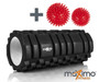 FOAM ROLLER - Trigger Point - Stronger and Harder for DEEPER Massage - QUICK START guide - Perfect Muscle Roller for Home, Gym, Pilates, Yoga - 14cm x 33cm - Includes two FREE Spiky Massage Balls. (Black)